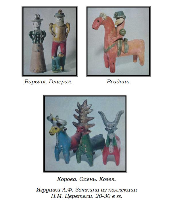 Игрушки Л.Ф. Зоткина из коллекции Н.М. Церетели. 20-30 е гг.